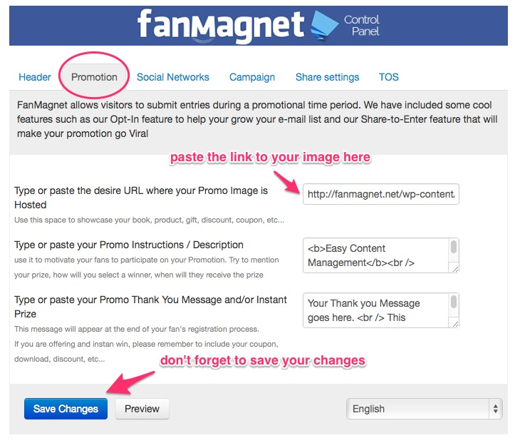 Fanmagnet changing your product image