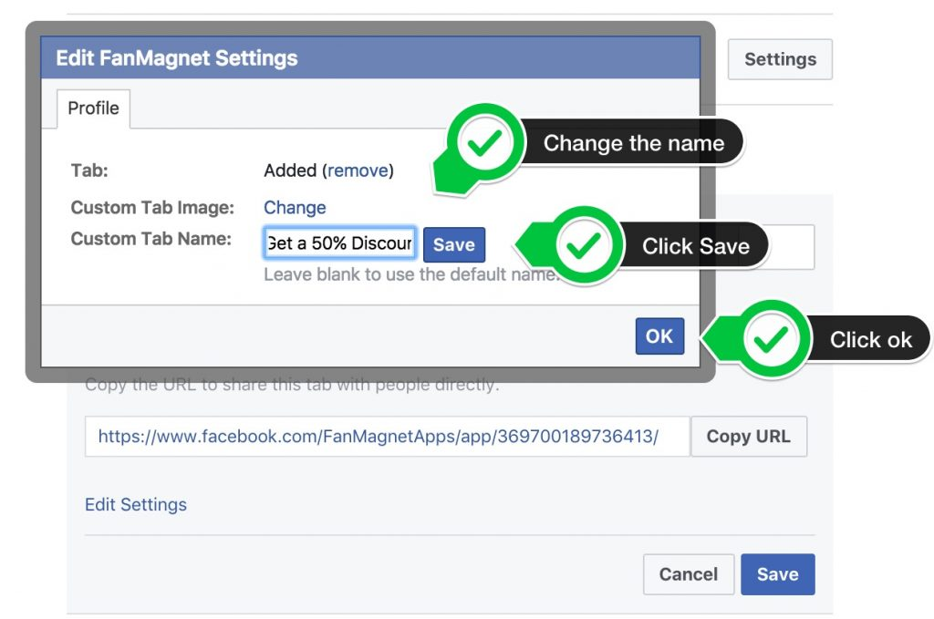 FanMagnet - How to Move and Rename Facebook tabs